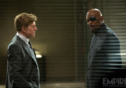 Captain America: The Winter Soldier - Robert Redford and Samuel L. Jackson