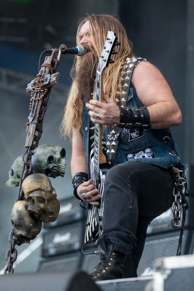 MONTREAL, QUE.: August 10, 2013-- Black Label Society perform during first day of the 2013 HeavyMTL festival at Parc Jean Drapeau in Montreal on Saturday August 10, 2013.  (Tim Snow / evenko)