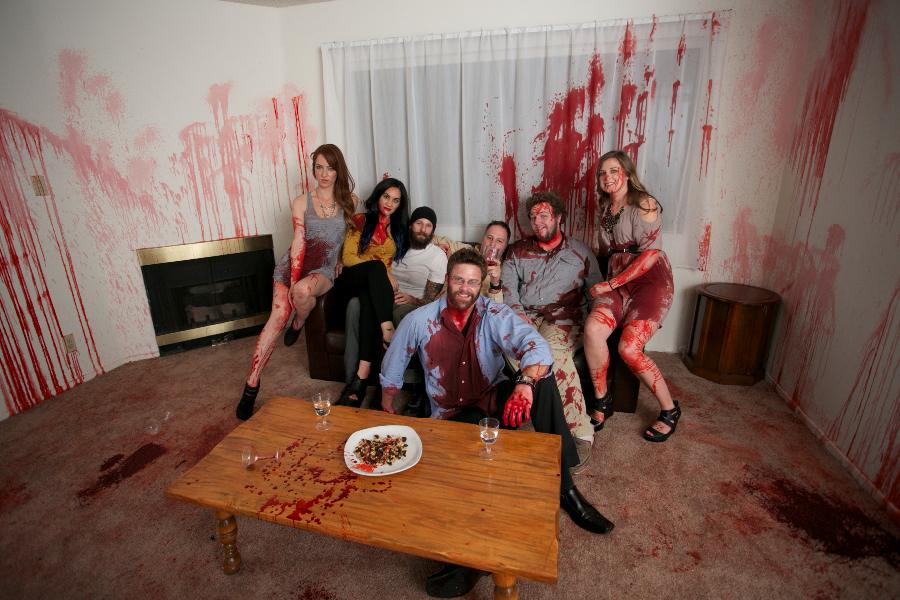 Director Erik Boccio and victims post-Massacre