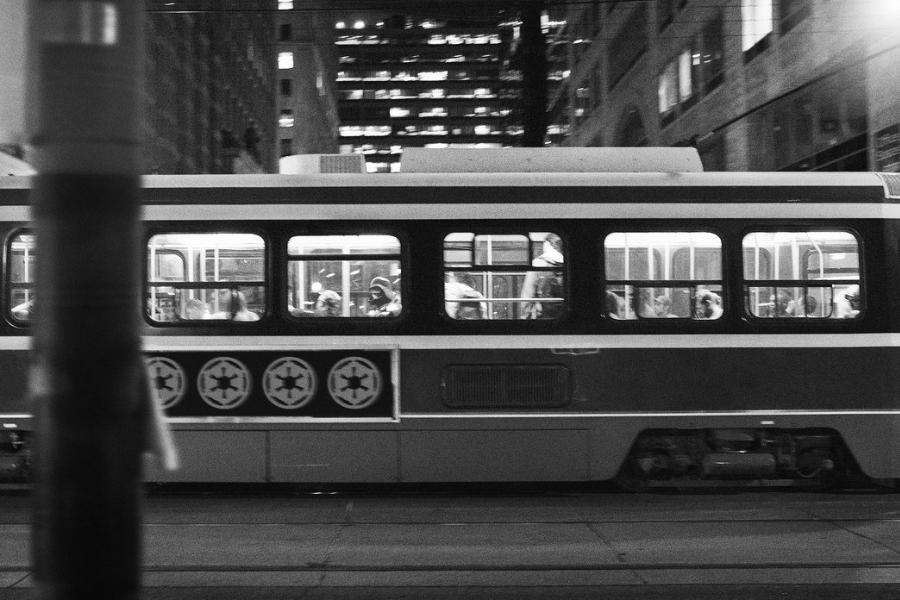 Thomas Dagg - Star Wars - Darth Vadar on a street car