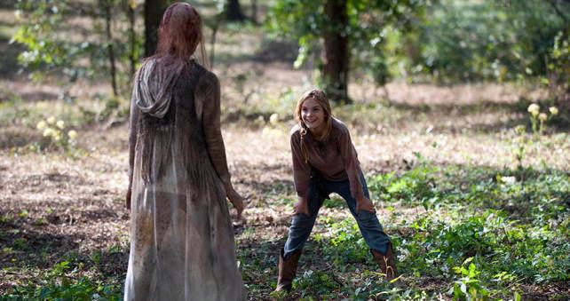 the walking dead - lizzie and walker