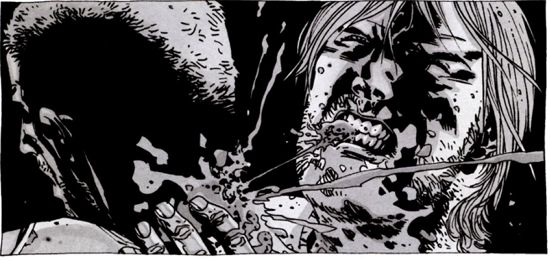 the walking dead - season 4 - rick bites joe