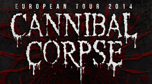 cannibal corpse tour poster 2014 europe