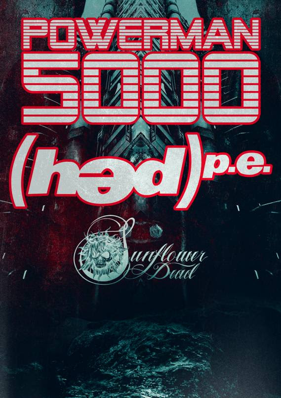 powerman 5000 co-headline with hed pe poster