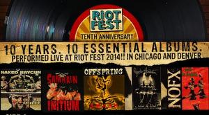 riot fest 10 essential albums poster