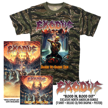 exodus - blood in blood out t-shirt