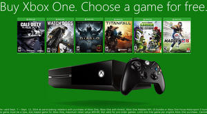 buy an xbox one get a free game