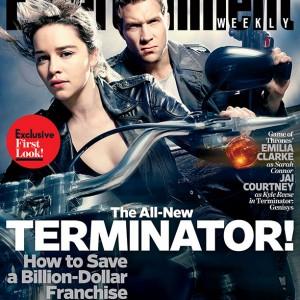 terminator genisys - EMILIA clarke and JAI courtney - EW cover