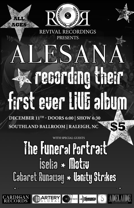 alesana recording first live album poster