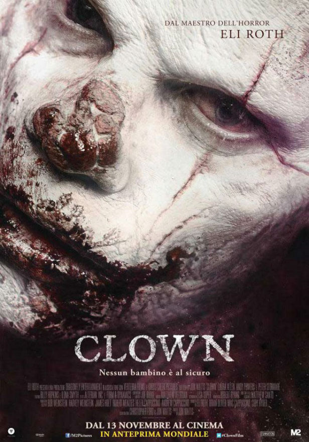 clown eli roth - banned italian poster