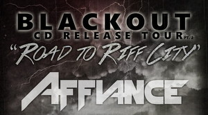 Affiance Blackout Pt 2 The Road To Riff City Tour poster