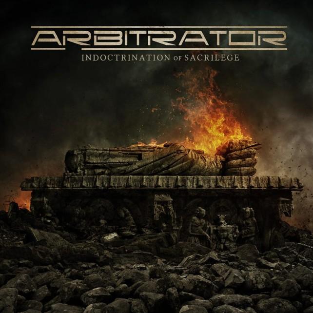 arbitrator - indoctrination of sacrilege - album cover