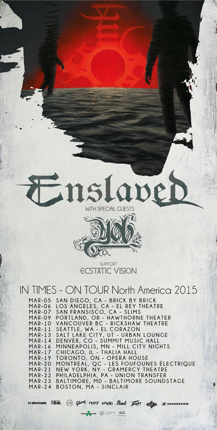 yob and enslaved tour poster
