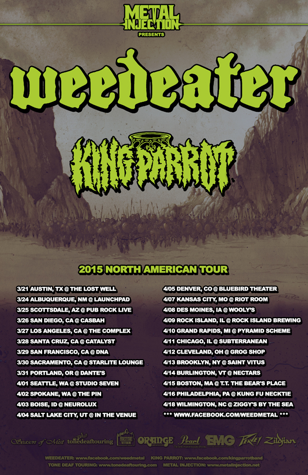 king parrot and weedeater tour poster