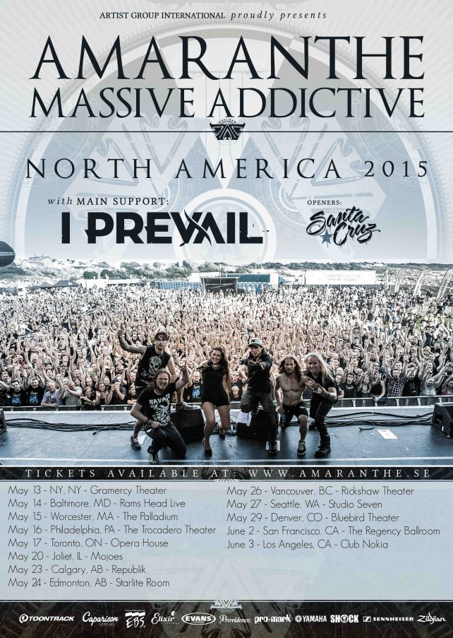 amaranthe massive addictive tour poster