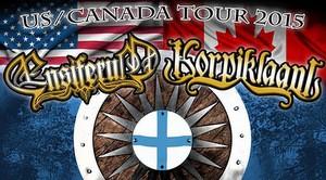 ensiferum 2015 north american tour poster