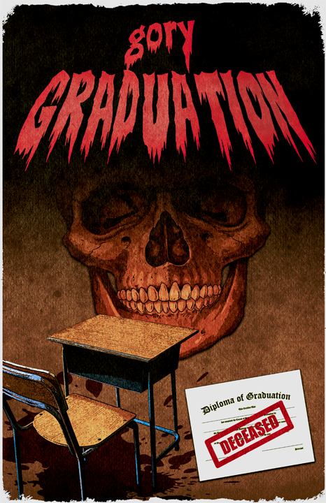 gory graduation - poster 4