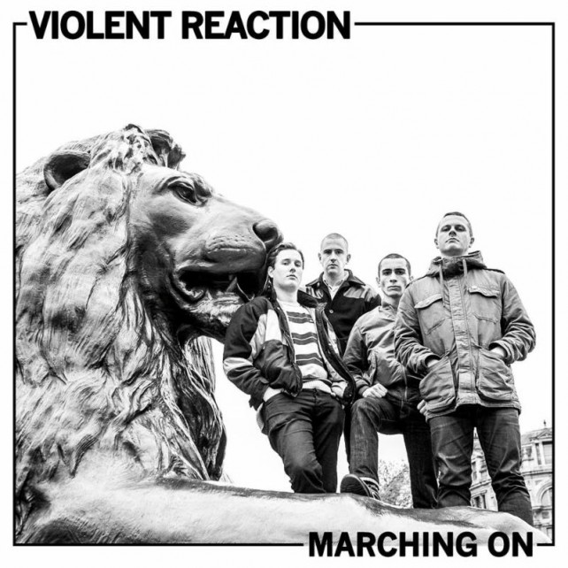 violent reaction - marching on - album cover