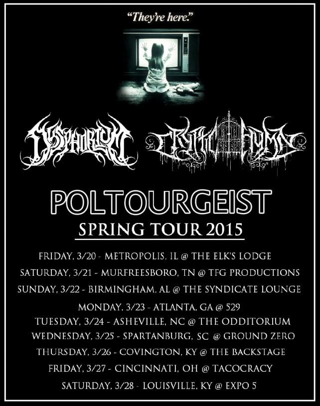 cryptic hym - poltourgeist tour poster