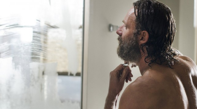 the walking dead - rick shaves
