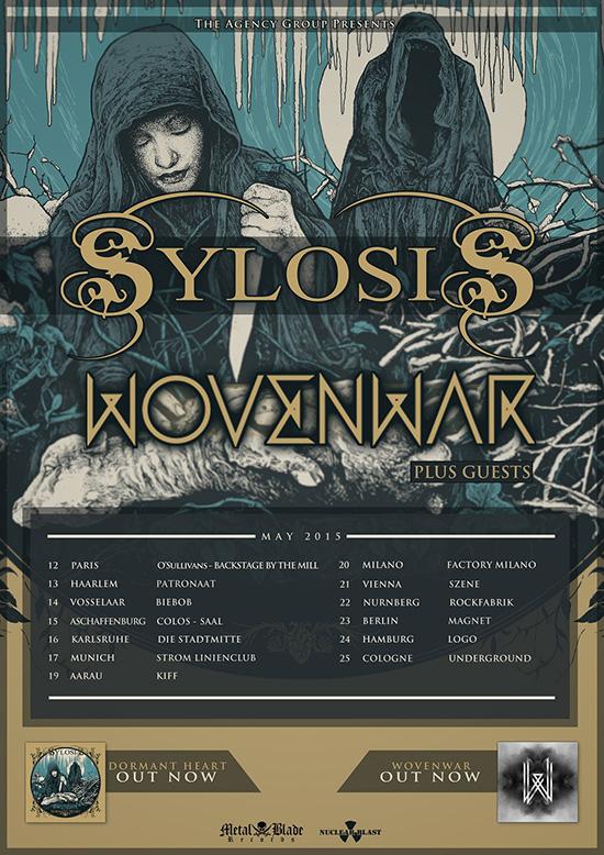 wovenwar sylosis 2015 european tour poster