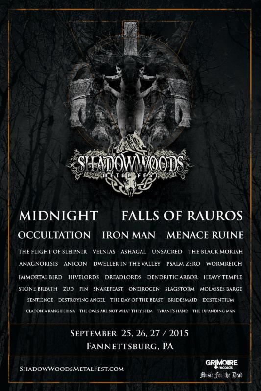 Shadow Woods Metal Fest poster