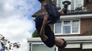 Tom Holland acrobatics for spider-man