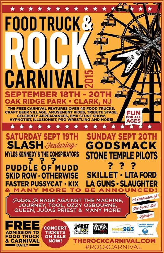food truck and rock carnival poster