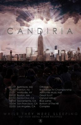 Candria 2017 tour poster